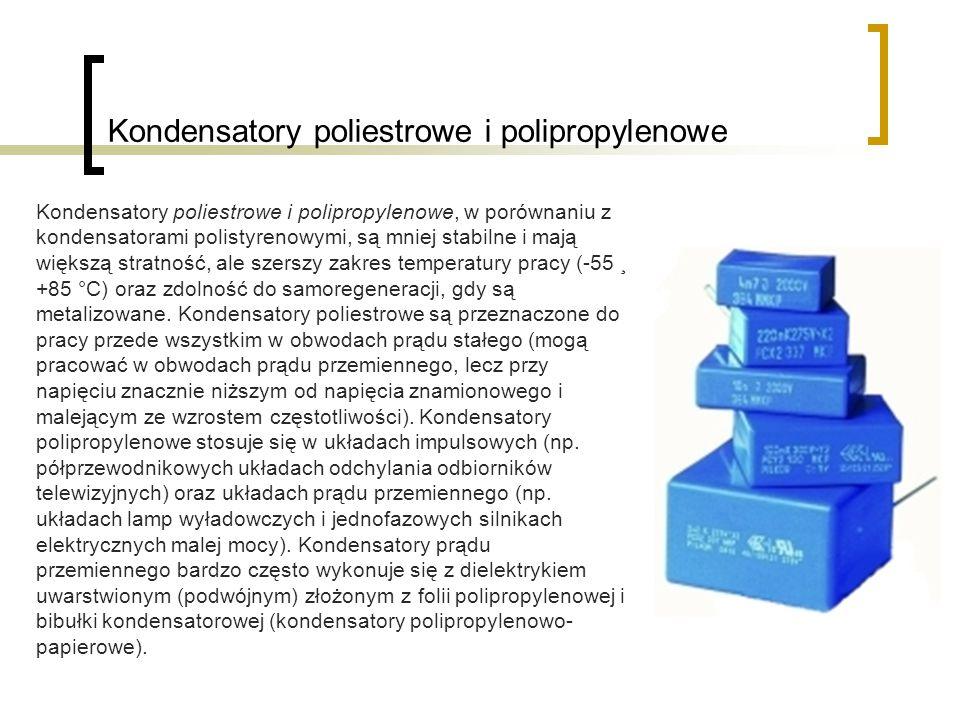 Kondensatory poliestrowe i polipropylenowe