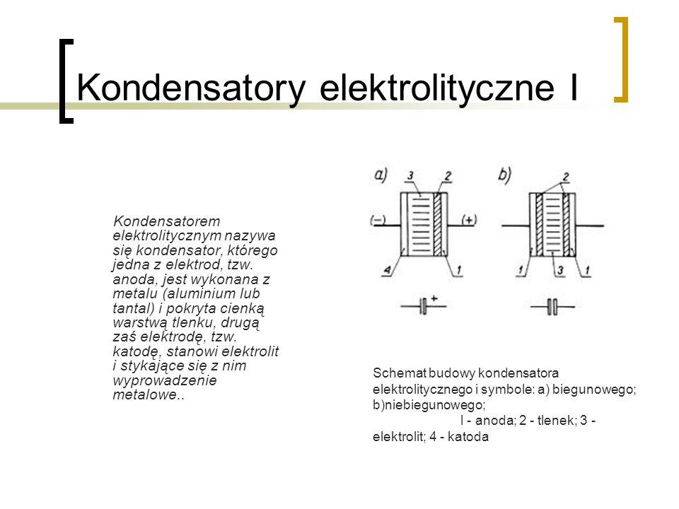 Kondensatory elektrolityczne I