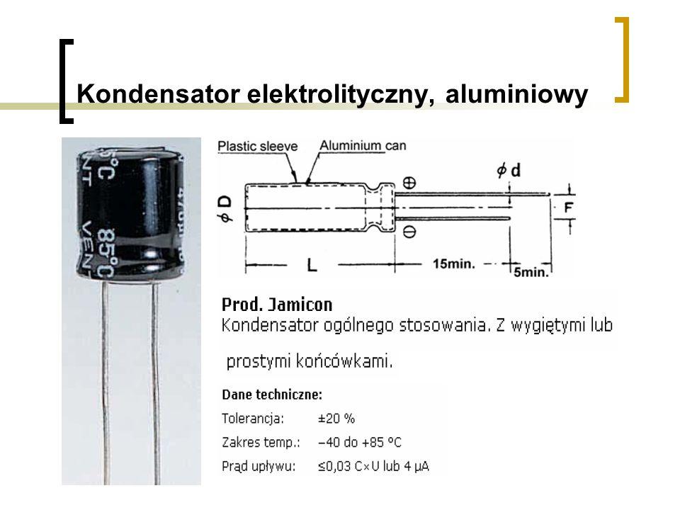 Kondensator elektrolityczny, aluminiowy