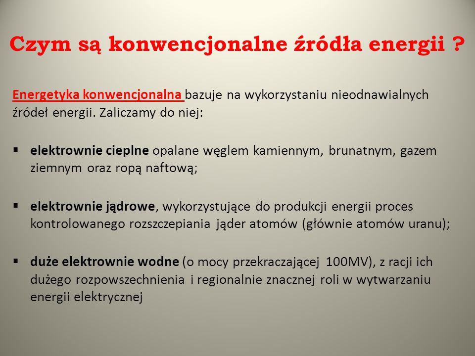 Czym są konwencjonalne źródła energii