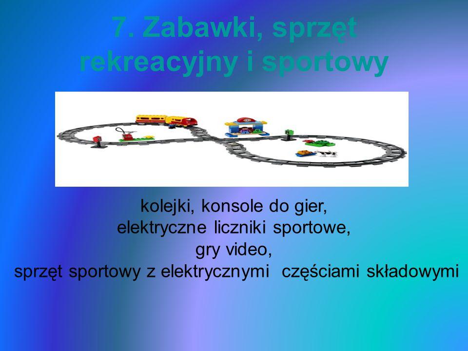 7. Zabawki, sprzęt rekreacyjny i sportowy