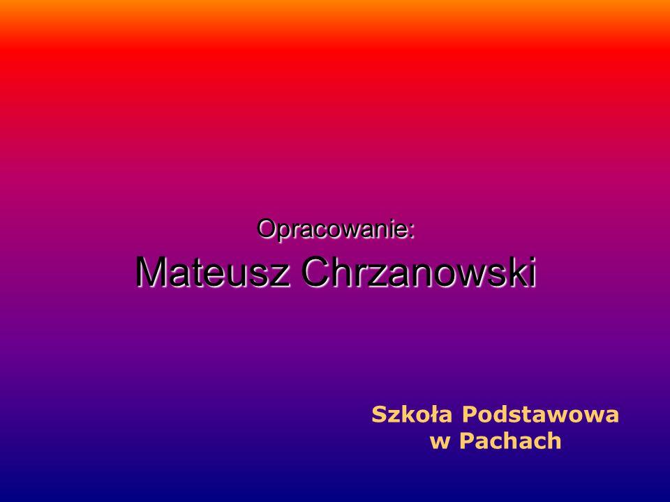 Opracowanie: Mateusz Chrzanowski
