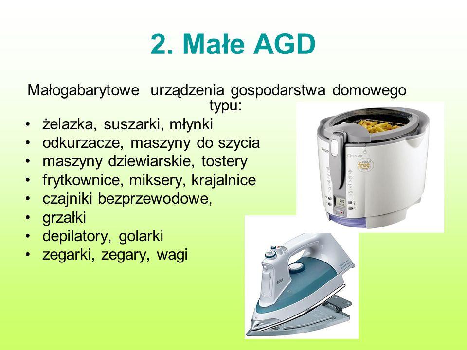 Małogabarytowe urządzenia gospodarstwa domowego typu: