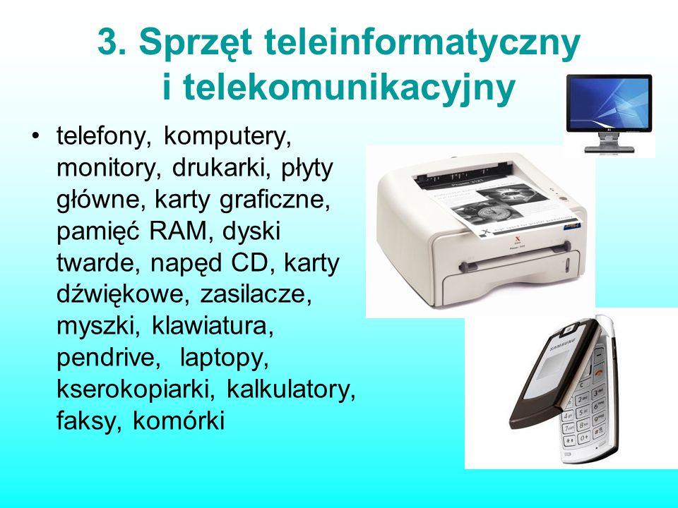 3. Sprzęt teleinformatyczny i telekomunikacyjny