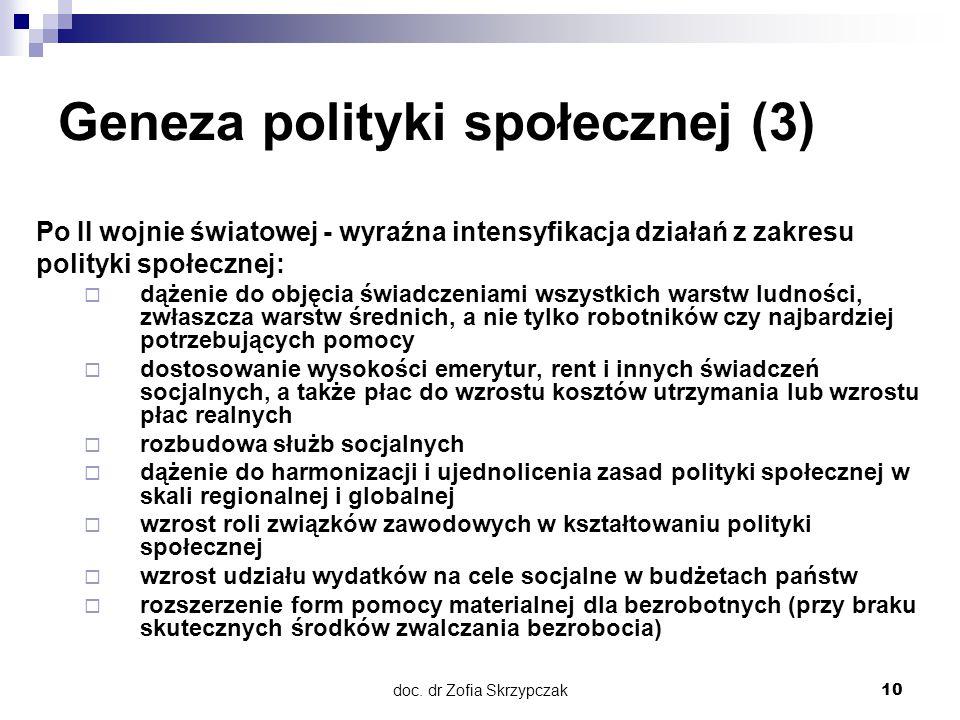 Geneza polityki społecznej (3)