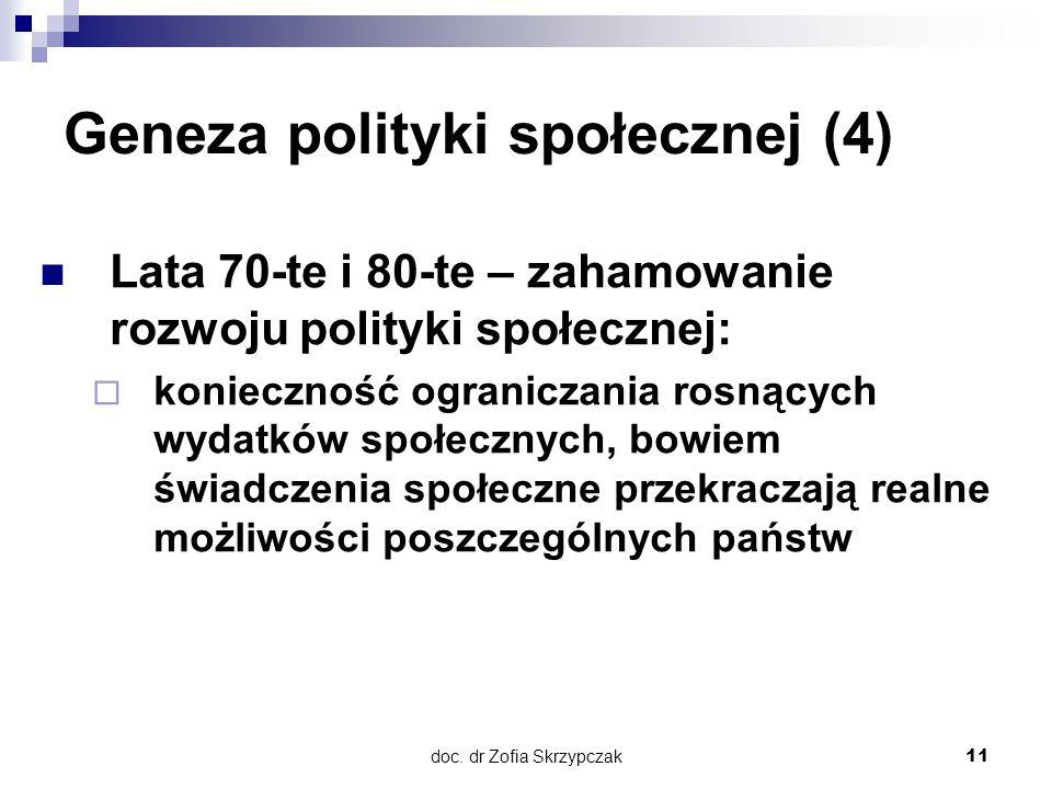 Geneza polityki społecznej (4)