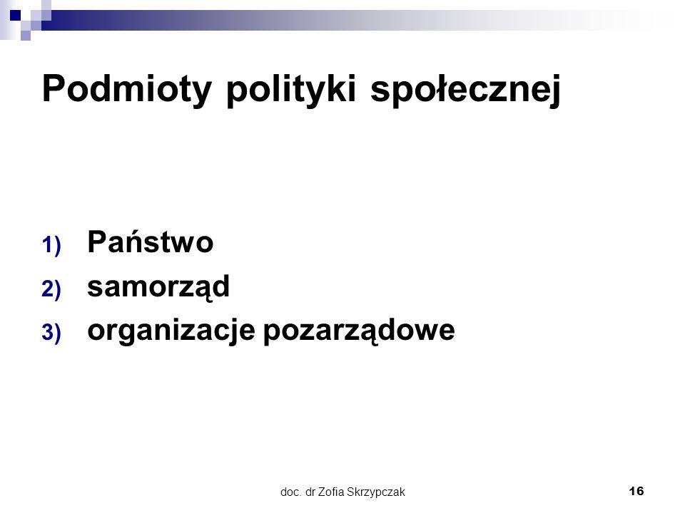 Podmioty polityki społecznej