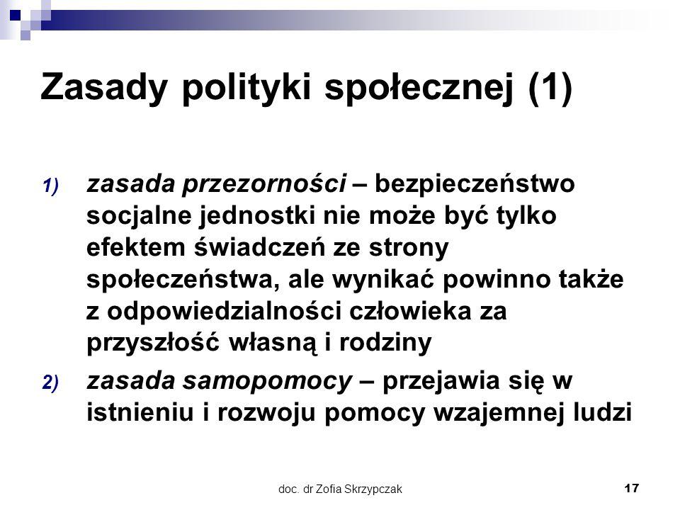 Zasady polityki społecznej (1)