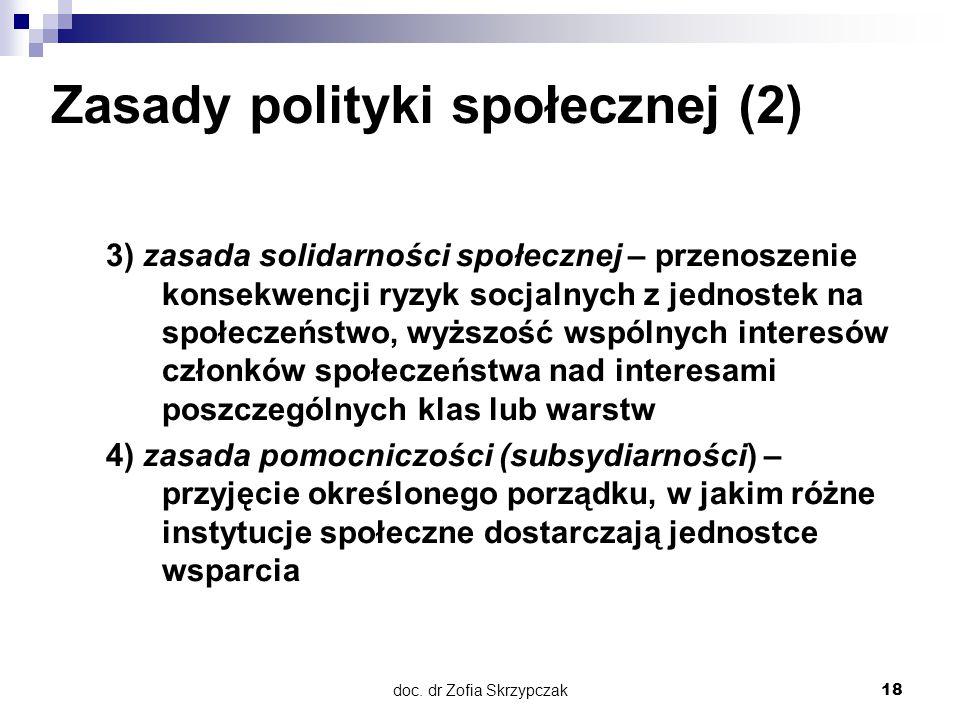 Zasady polityki społecznej (2)