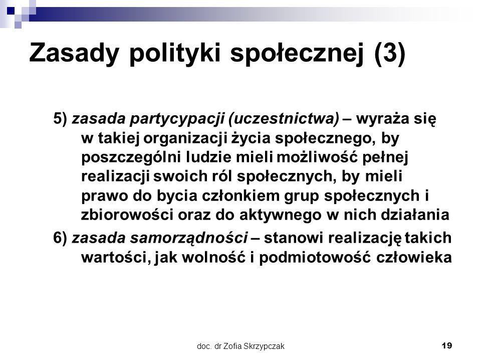 Zasady polityki społecznej (3)
