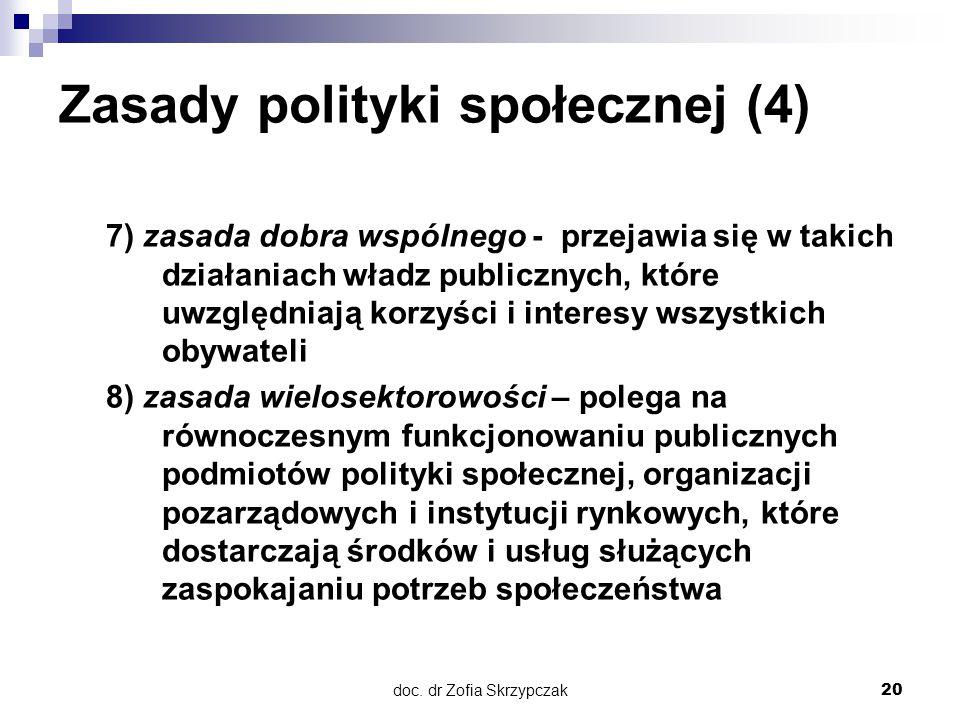 Zasady polityki społecznej (4)