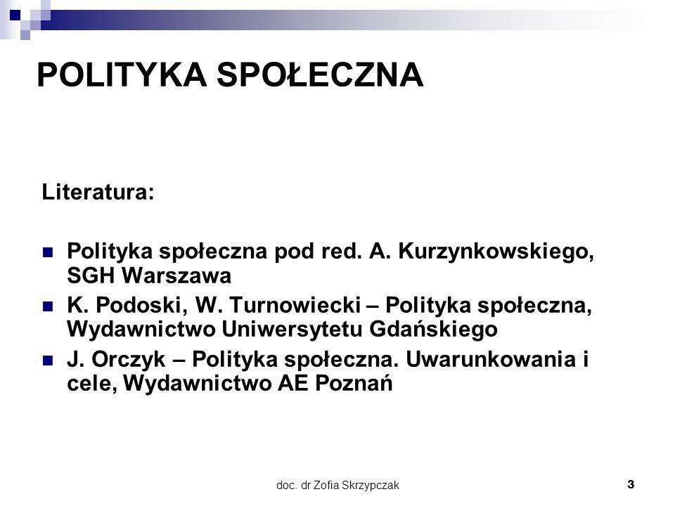 doc. dr Zofia Skrzypczak