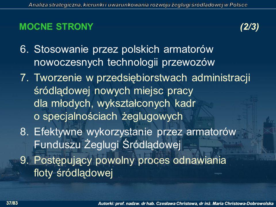 Stosowanie przez polskich armatorów nowoczesnych technologii przewozów