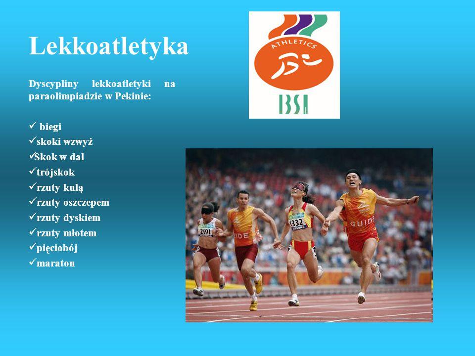 Lekkoatletyka Dyscypliny lekkoatletyki na paraolimpiadzie w Pekinie: