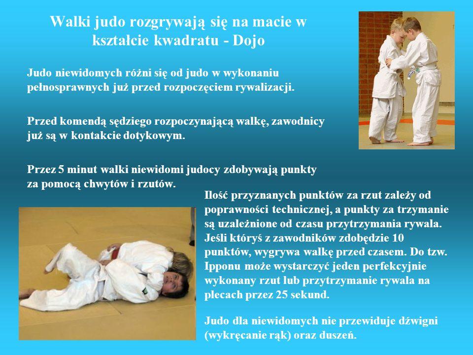Walki judo rozgrywają się na macie w kształcie kwadratu - Dojo