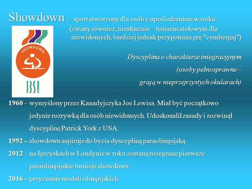 Showdown – sport stworzony dla osób z upośledzeniem wzroku