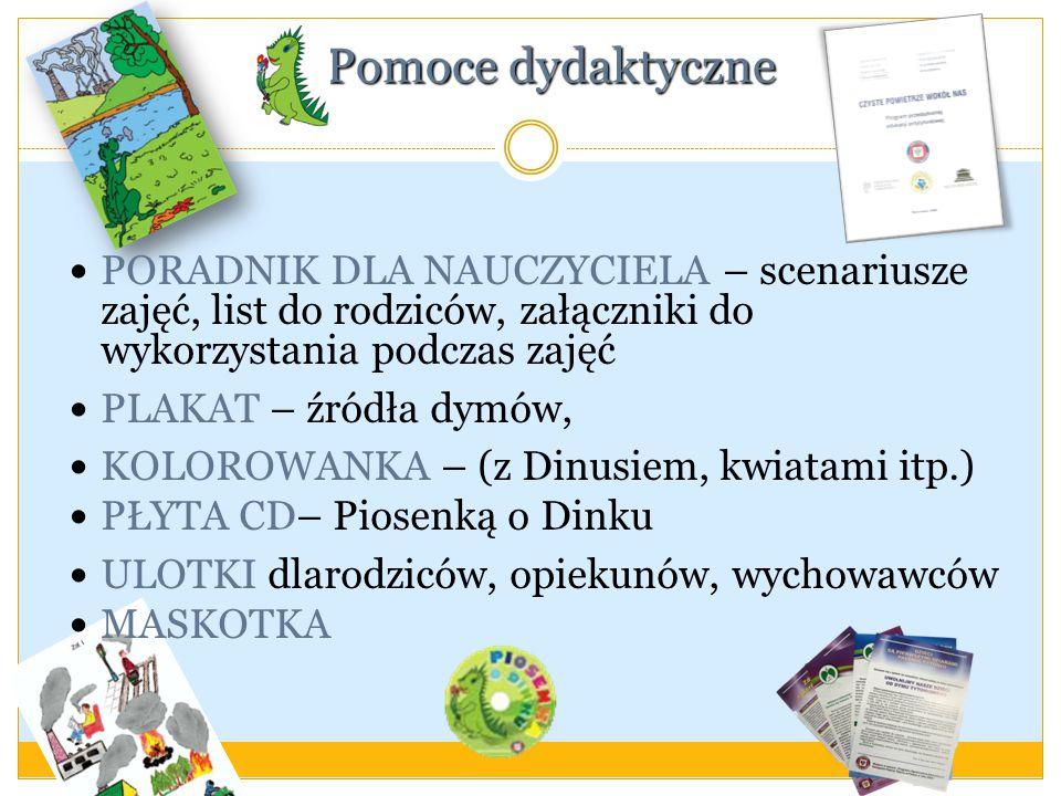 Pomoce dydaktyczne PORADNIK DLA NAUCZYCIELA – scenariusze zajęć, list do rodziców, załączniki do wykorzystania podczas zajęć.