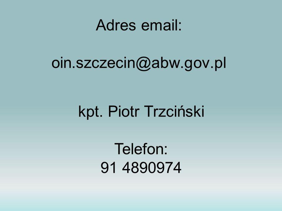 Adres email: oin.szczecin@abw.gov.pl