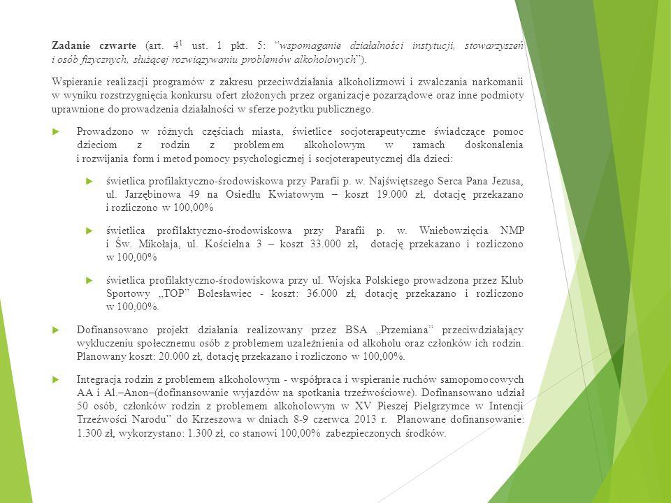 Zadanie czwarte (art. 41 ust. 1 pkt
