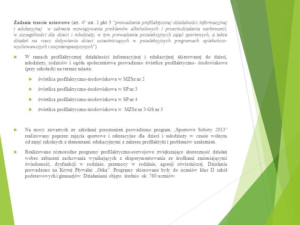 Zadanie trzecie ustawowe (art. 41 ust