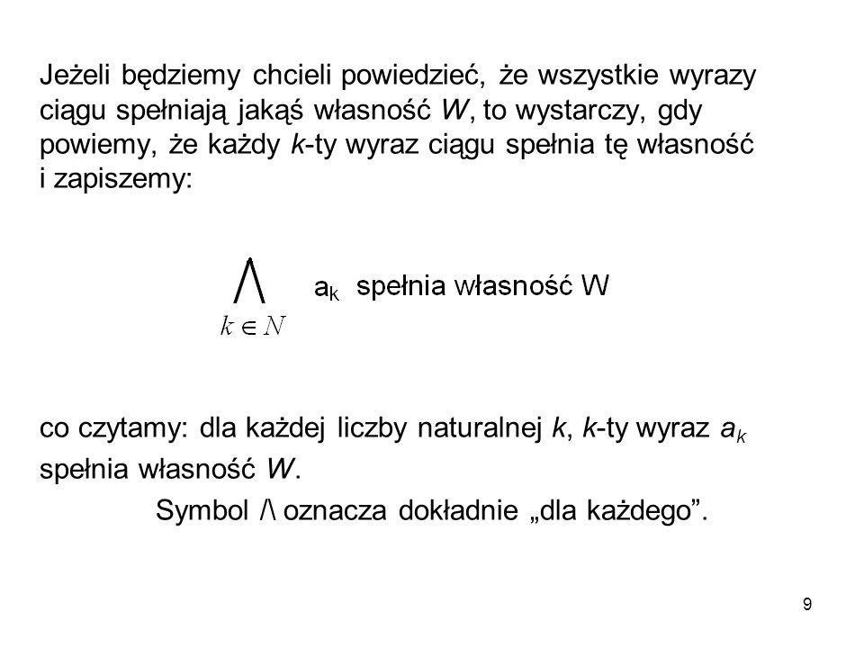 """Symbol /\ oznacza dokładnie """"dla każdego ."""