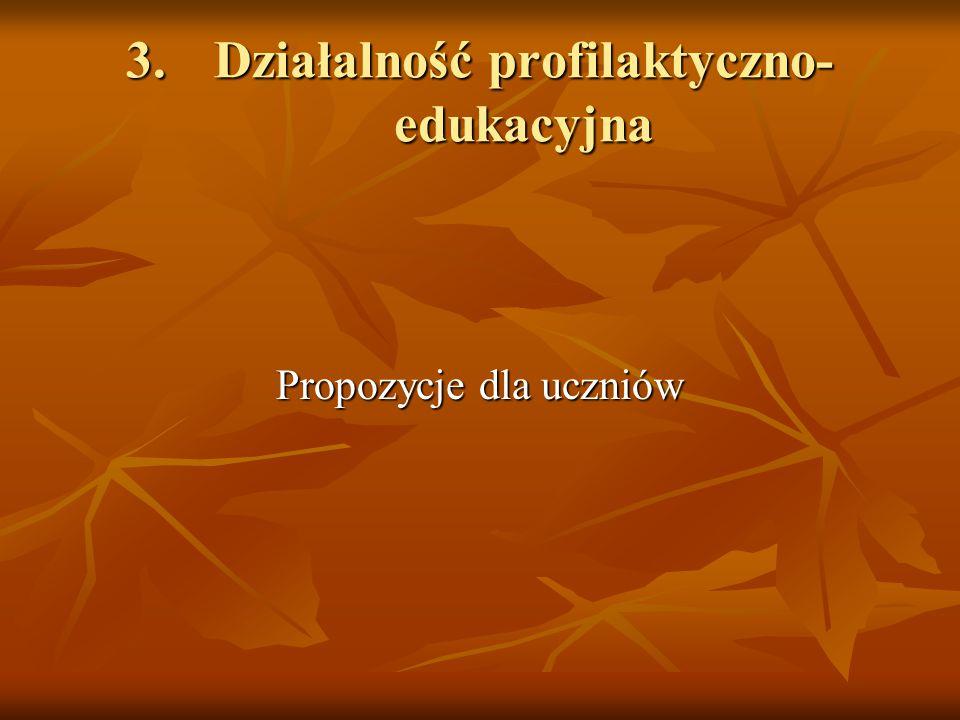 3. Działalność profilaktyczno-edukacyjna