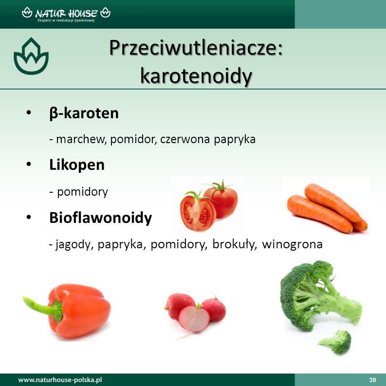Przeciwutleniacze: karotenoidy