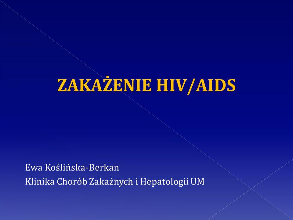 ZAKAŻENIE HIV/AIDS Ewa Koślińska-Berkan