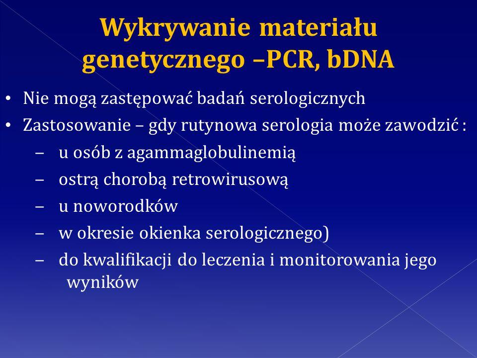 Wykrywanie materiału genetycznego –PCR, bDNA