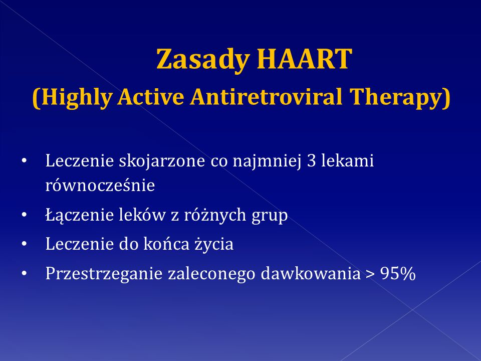 Zasady HAART (Highly Active Antiretroviral Therapy)