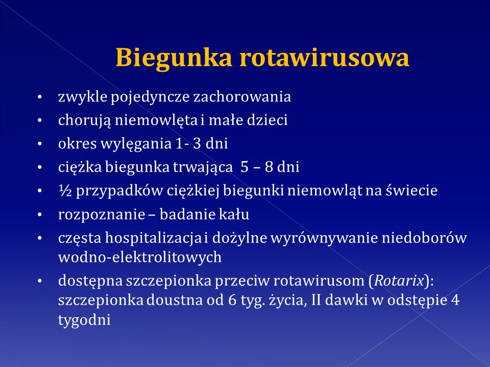 Biegunka rotawirusowa