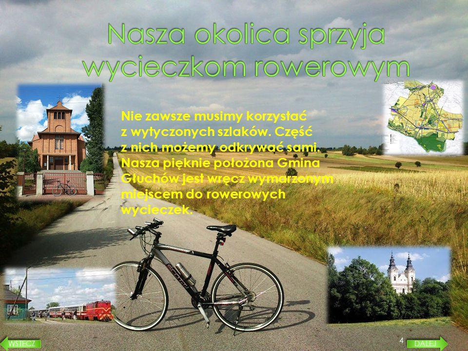 Nasza okolica sprzyja wycieczkom rowerowym