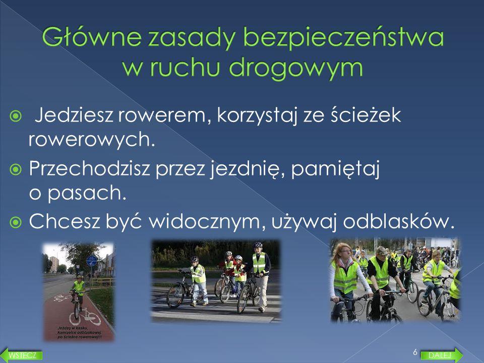 Główne zasady bezpieczeństwa w ruchu drogowym