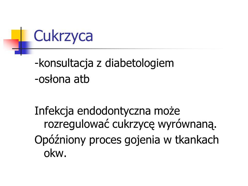 Cukrzyca -konsultacja z diabetologiem -osłona atb