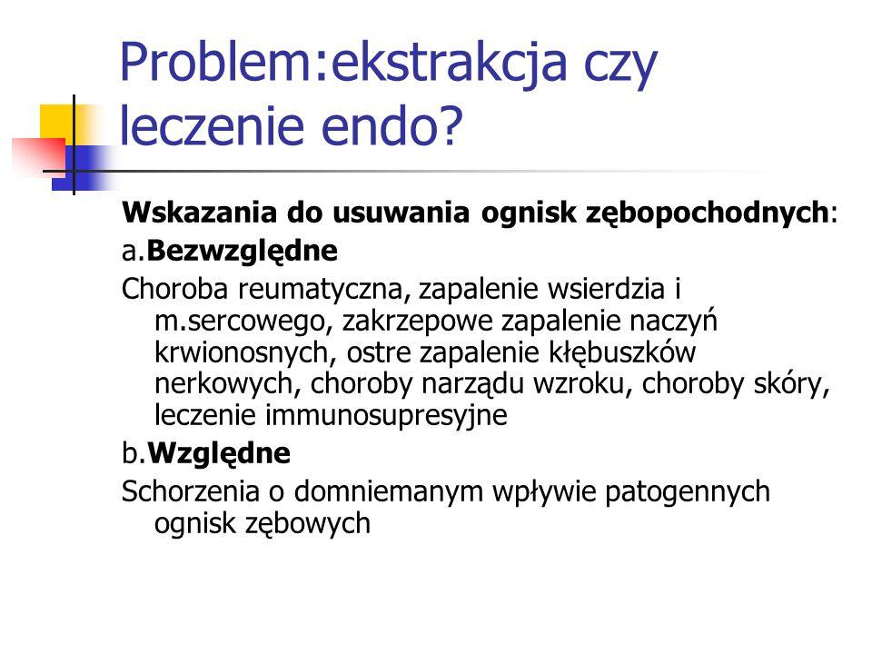 Problem:ekstrakcja czy leczenie endo