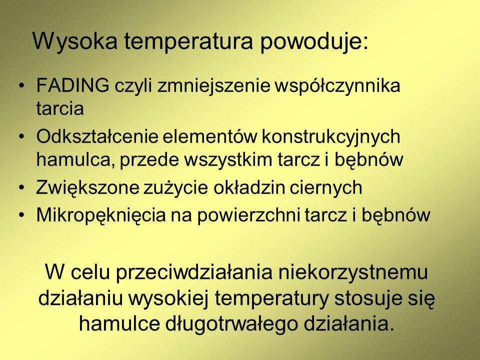Wysoka temperatura powoduje: