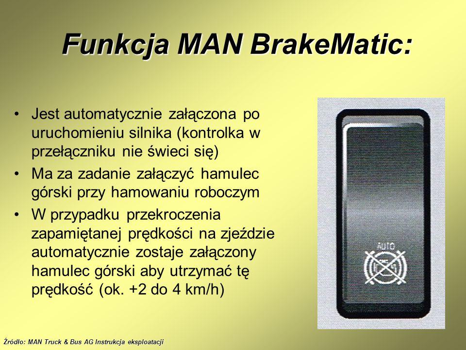 Funkcja MAN BrakeMatic: