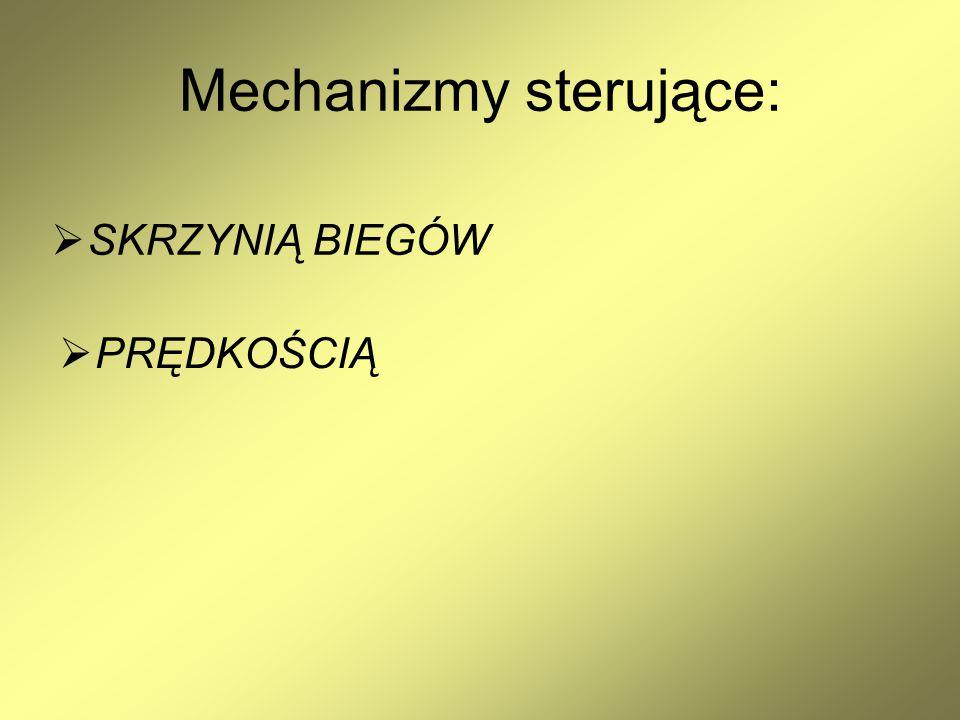 Mechanizmy sterujące: