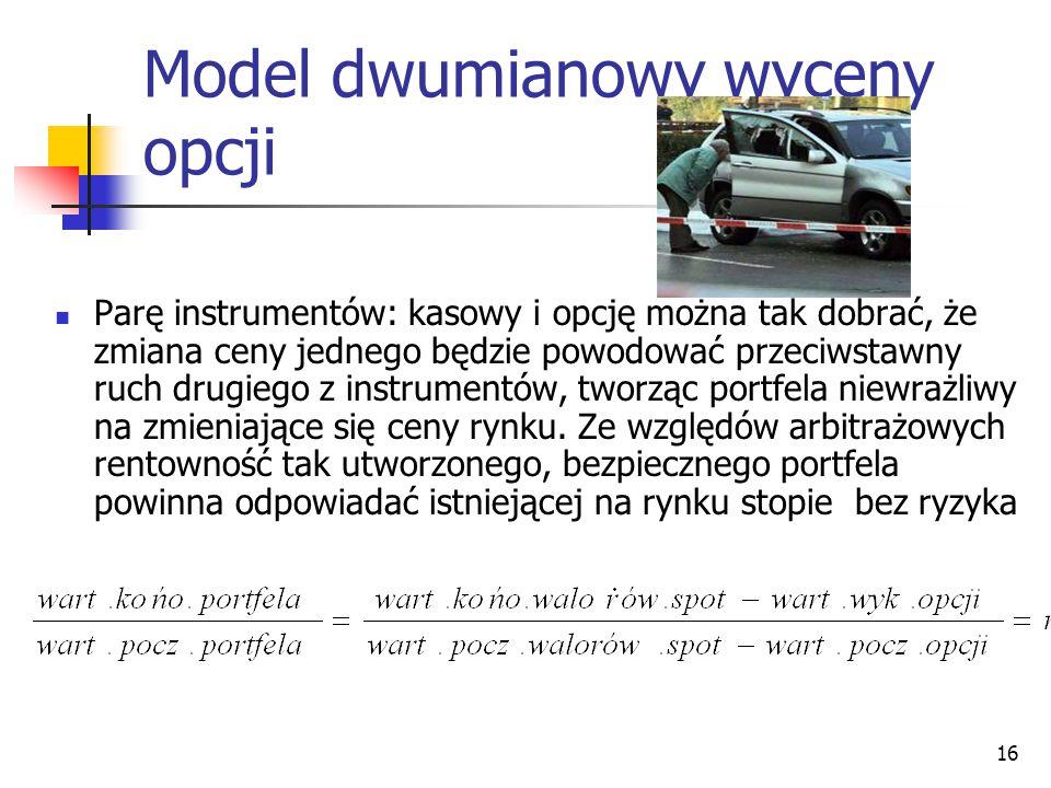 Model dwumianowy wyceny opcji