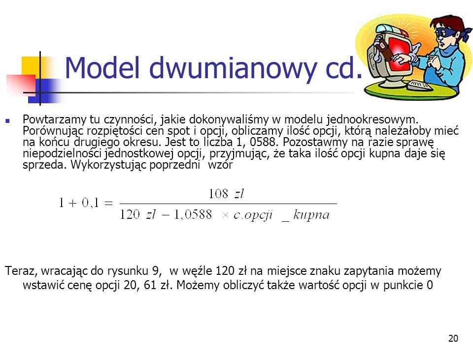 Model dwumianowy cd.