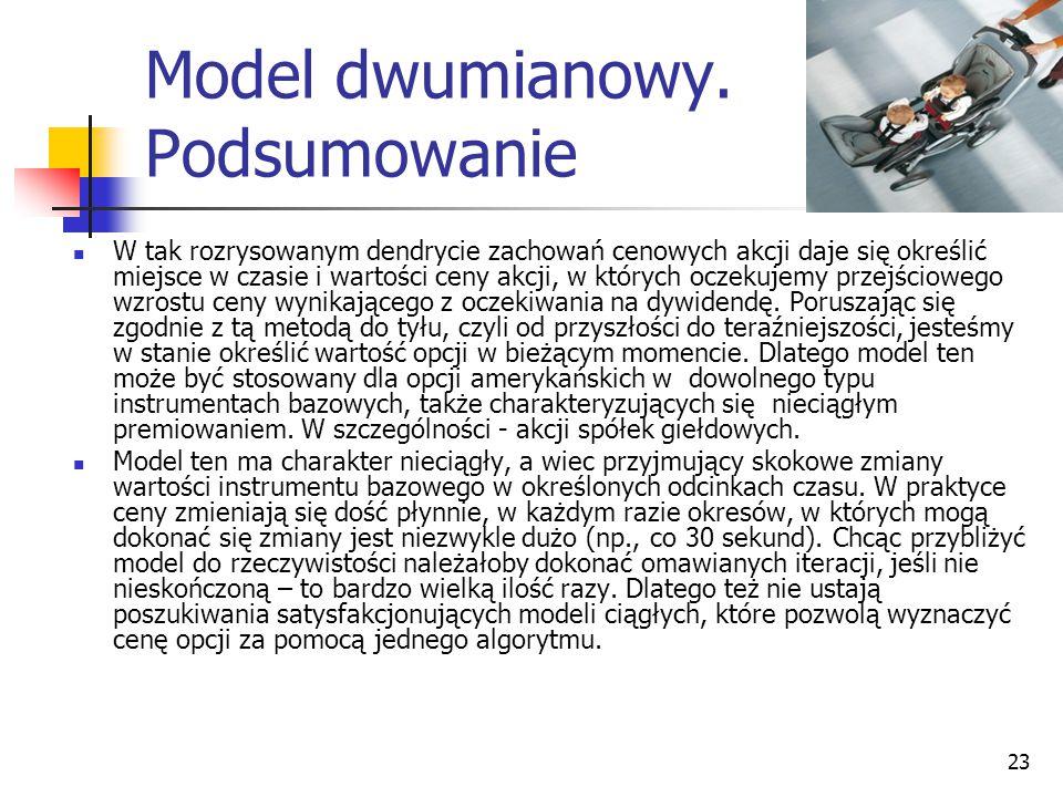 Model dwumianowy. Podsumowanie