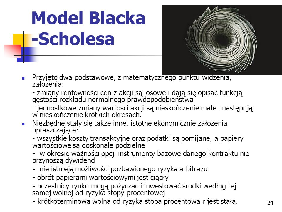 Model Blacka -Scholesa