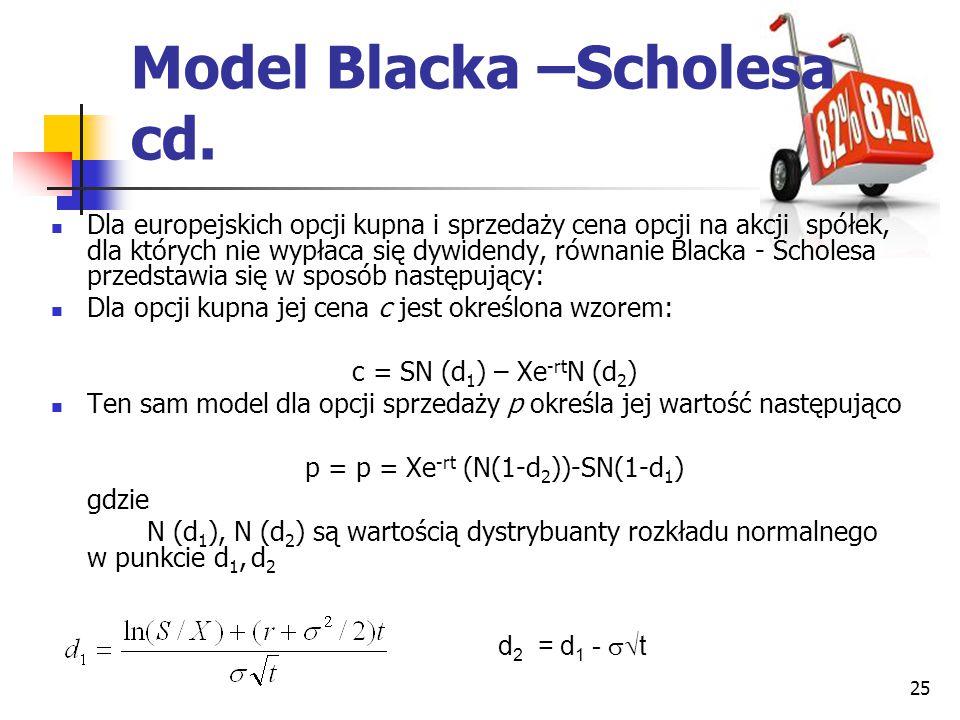 Model Blacka –Scholesa cd.