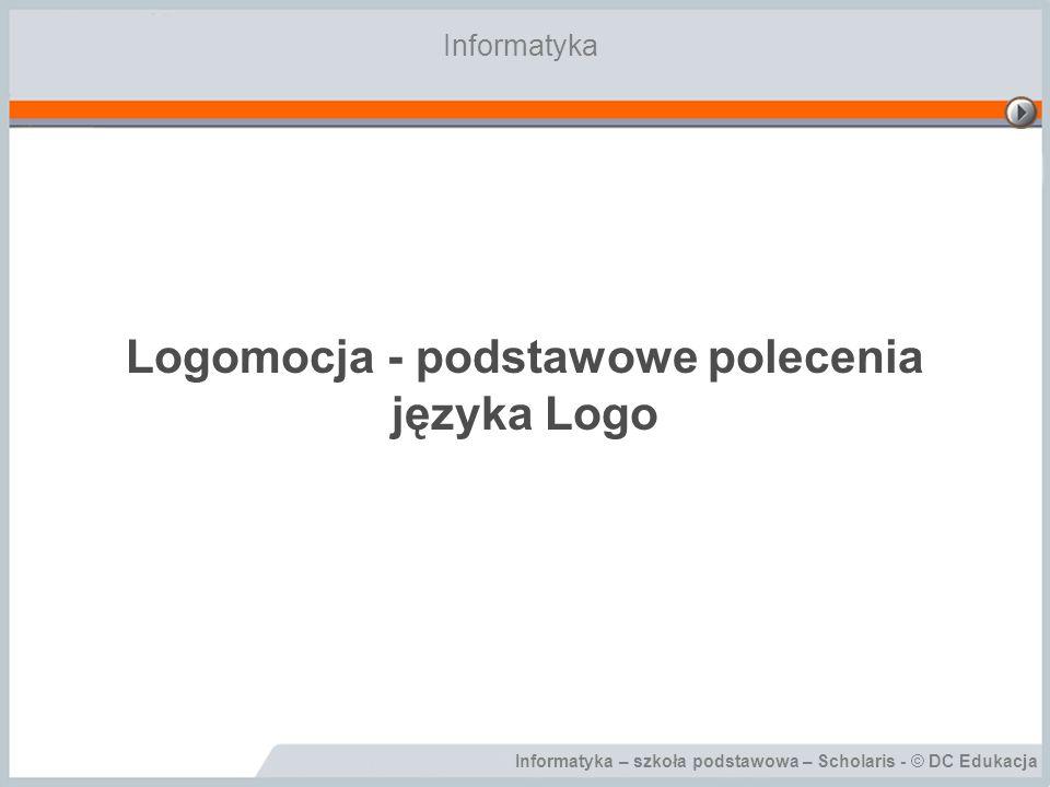 Logomocja - podstawowe polecenia języka Logo