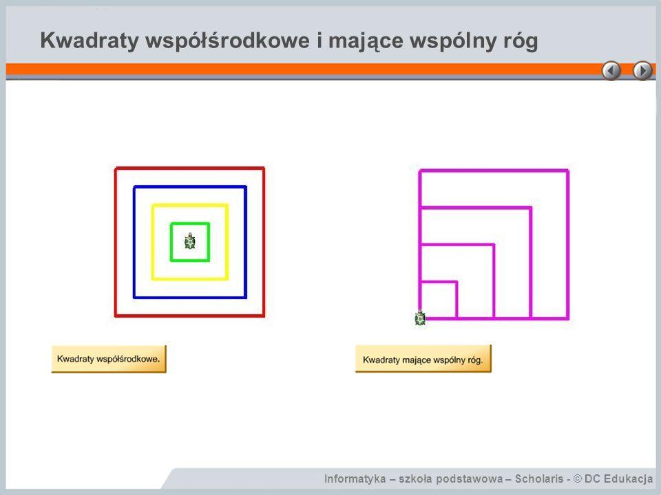 Kwadraty współśrodkowe i mające wspólny róg