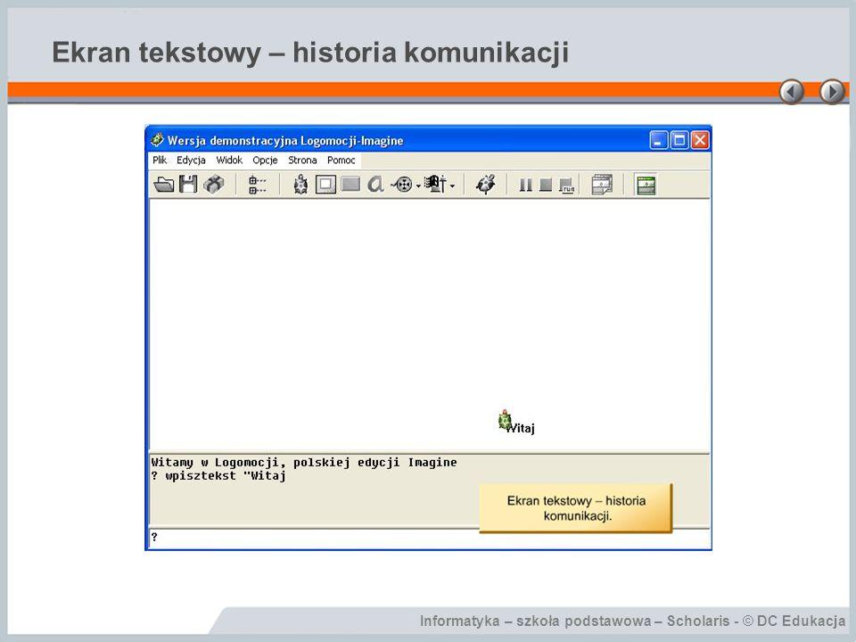 Ekran tekstowy – historia komunikacji