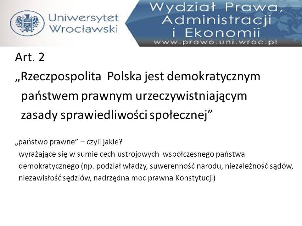 """""""Rzeczpospolita Polska jest demokratycznym"""