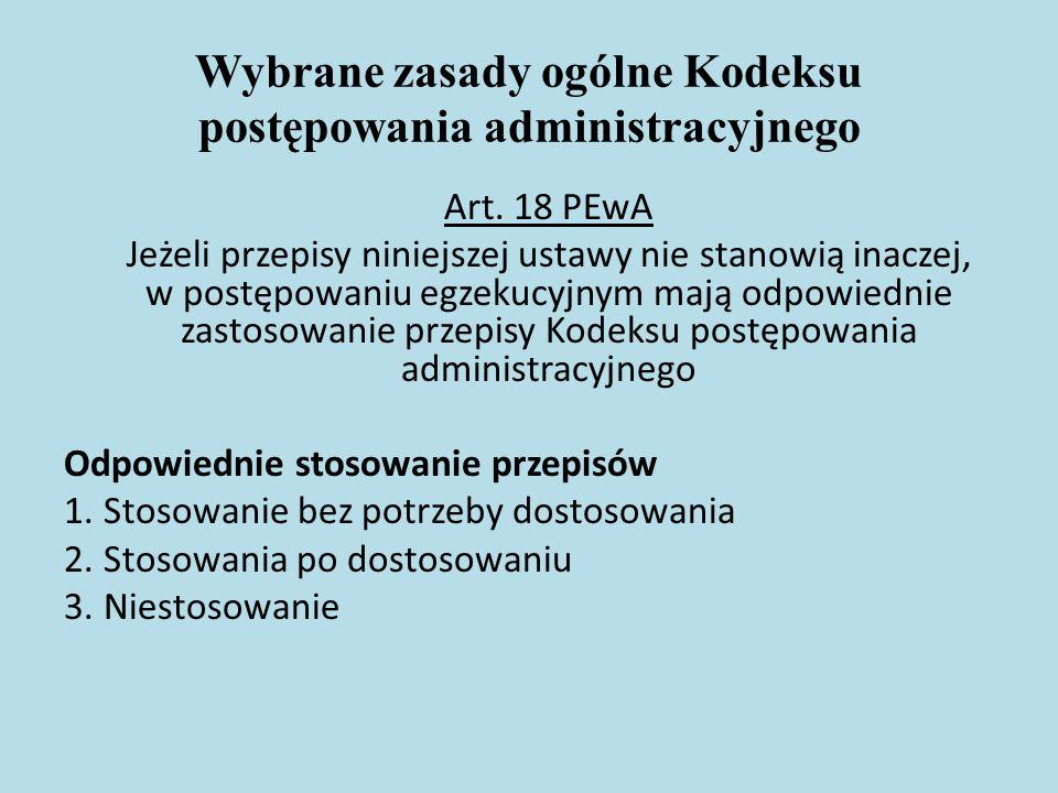 Wybrane zasady ogólne Kodeksu postępowania administracyjnego