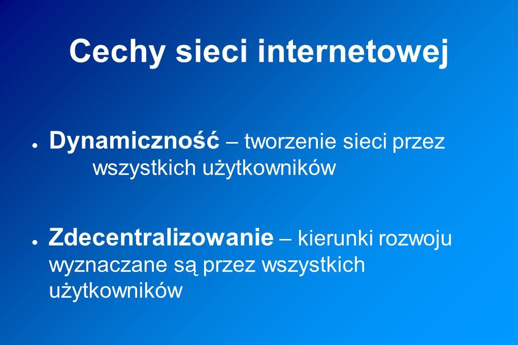 Cechy sieci internetowej
