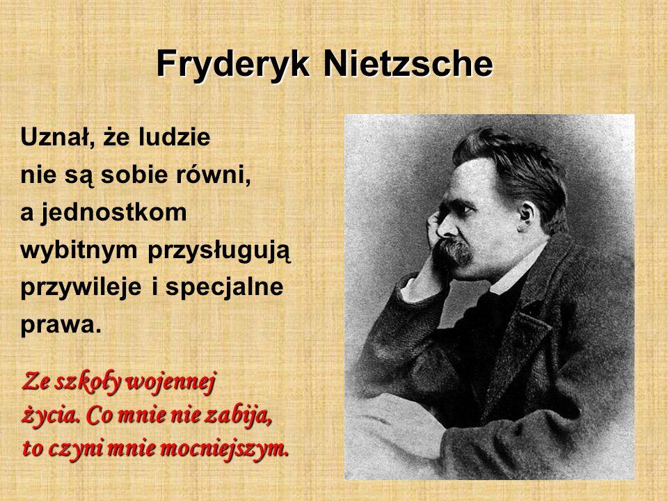Fryderyk Nietzsche Ze szkoły wojennej życia. Co mnie nie zabija,